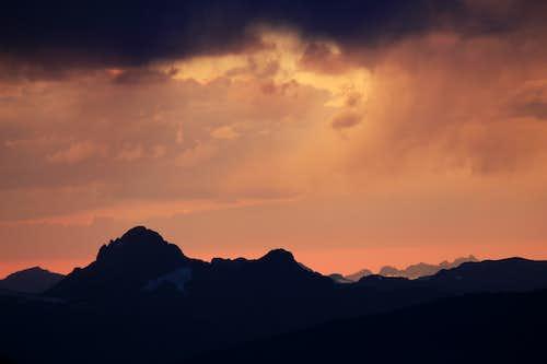 Sunset over Montana Absarokas