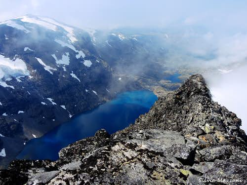 Falketind summit view
