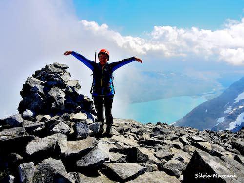 Joy on the summit of Falketind