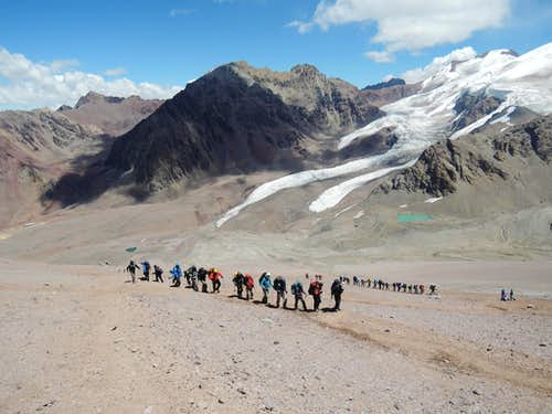 Guided group of 27 on Aconcagua