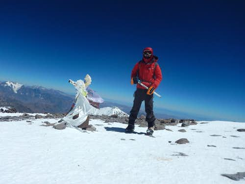 Alone on Aconcagua's summit, and the selfie stick breaks in the wind
