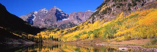 The Maroon Bells from Maroon...