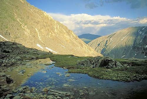 Quandary Peak on the left,...
