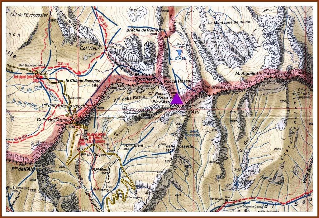 Pic d'Asti map