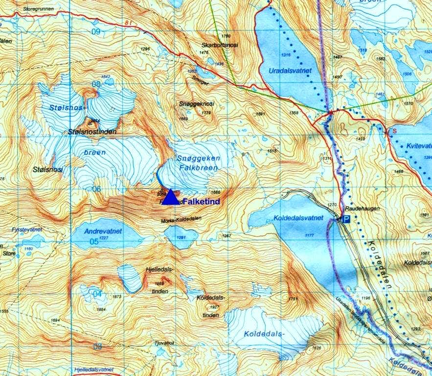 Falketind map