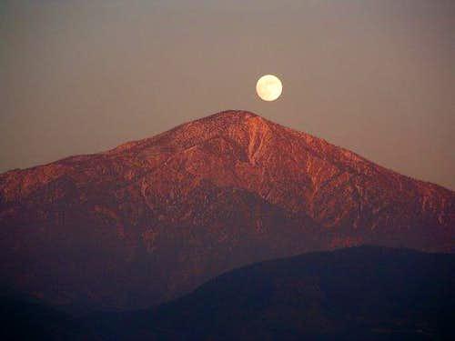 San Bernardino Peak as seen...