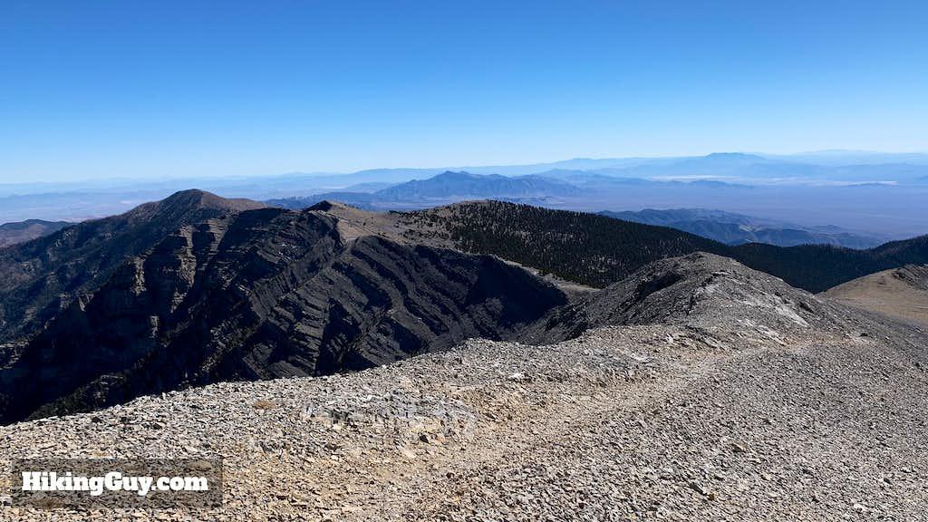 View Down South Loop Trail From Charleston Peak