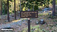 Sign At Start of South Loop Trail to Charleston Peak