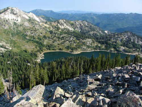 Twin Lakes Reservoir from Mount Millicent
