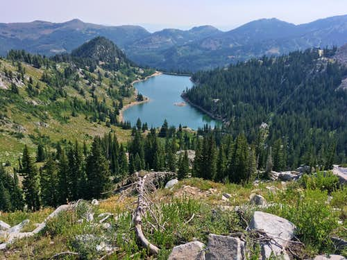 Twin Lakes Reservoir from Twin Lakes Pass