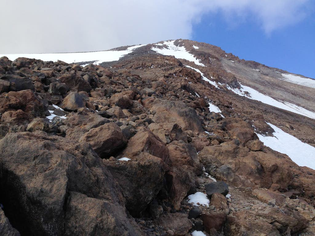 Damavand summit ridge