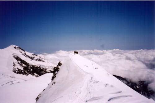 Castor's firn ridge to the...
