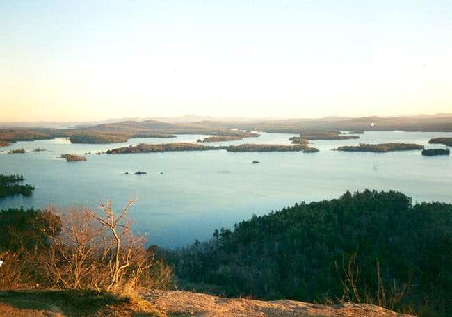 Shot of Squam Lake and Lake...