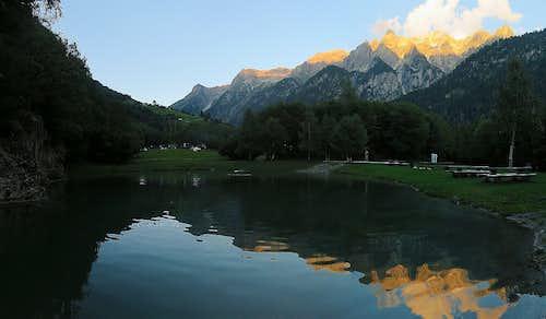 Alpenglow in Val Bregaglia