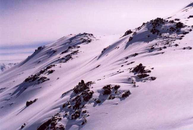 In the rote of Alvand peak .