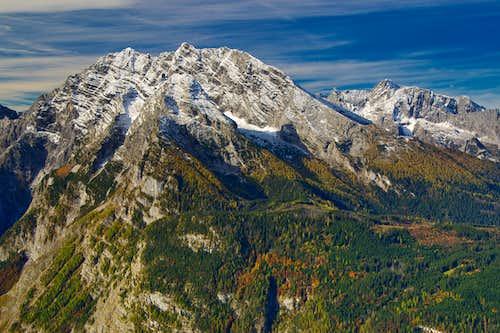 Watzmann and Hochkalter in fresh October snow