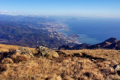Genova seen from Monte Reixa