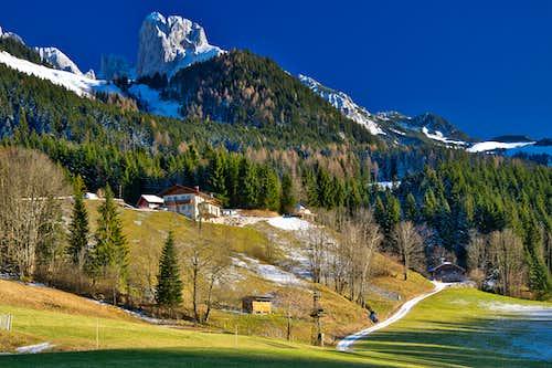 Bischofsmütze (2458 m) seen from Annaberg-Steuer