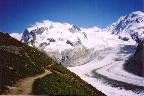 View on the Gornergletscher...