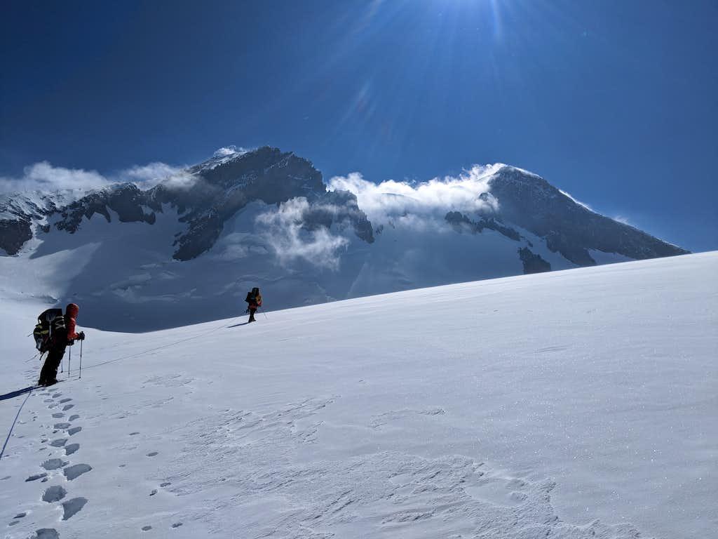 Crossing the West Plateau between Kukurtlu Dome and Elbrus West Summit