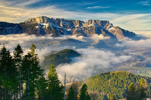The Untersberg above the cloud