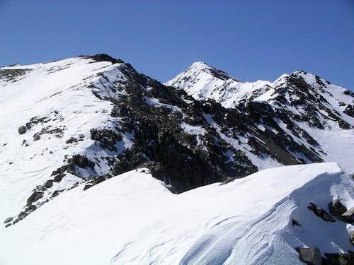 View of winding north ridge...