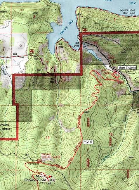 Topo map of the Caribou Ridge...