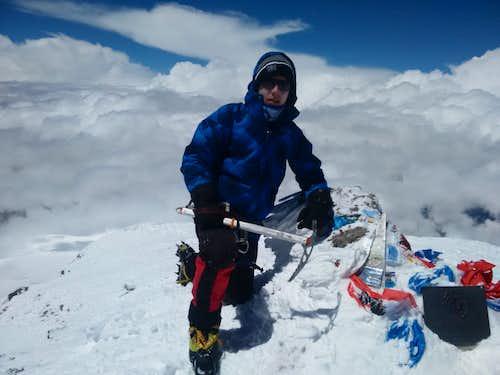 Andrei Eliseev on Elbrus West Summit