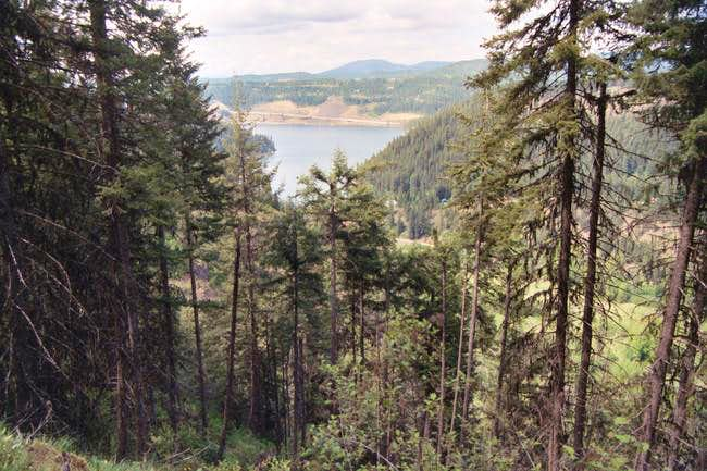View of Lake Coeur d'Alene...