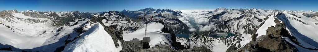 Panorama from summit of Basei