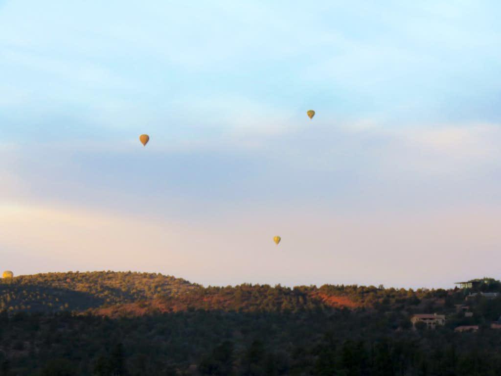 Balloons flying over Sedona