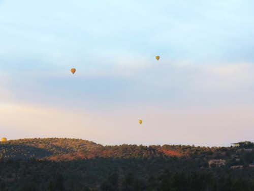 Balloons flying over Sedona