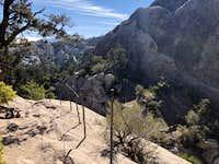 Guard rail at Devil;s Punchbowl loop trail