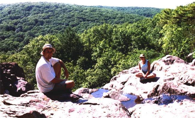 My wife and I at the top of...