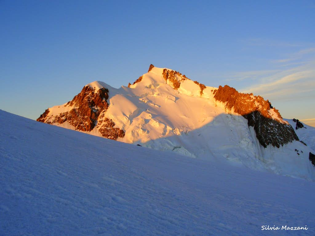 Mont Maudit at sunrise seen from Mont Blanc du Tacul