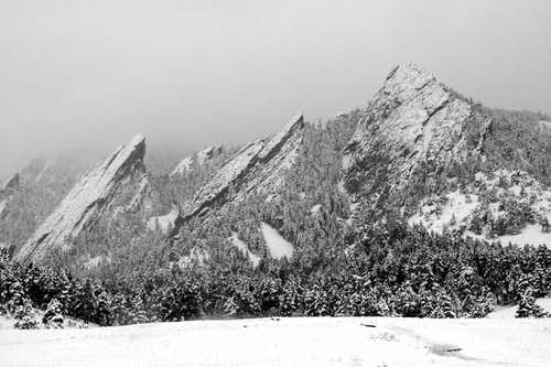 The Flatirons and Green...