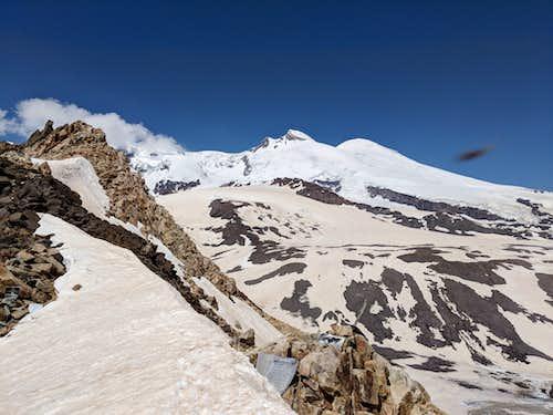 View of Elbrus from Khotutau Pass