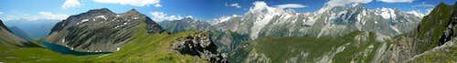 Testa dei Liconi and Mont Blanc Massif