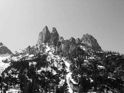 View of Liberty Bell Massif...