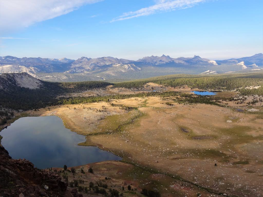 Young Lakes and The Cathedral Range beyond