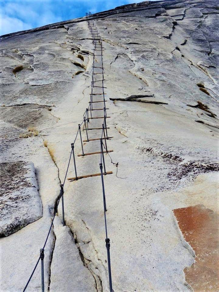 The Cables up Half Dome
