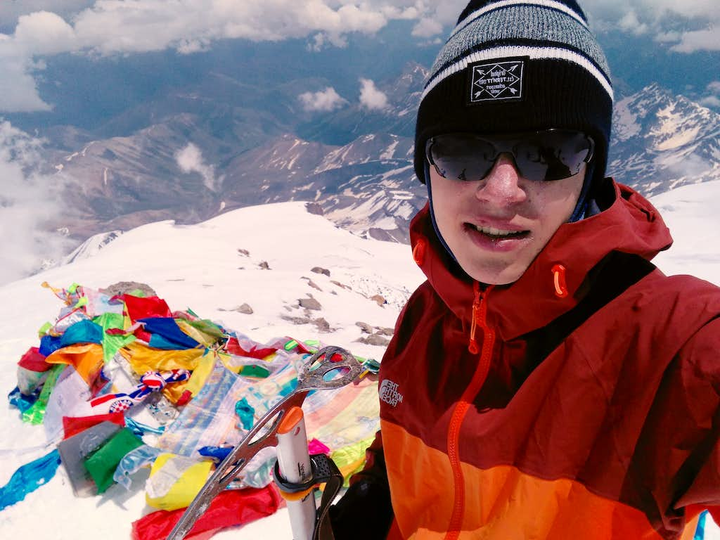 Andrei Eliseev on Elbrus West Summit