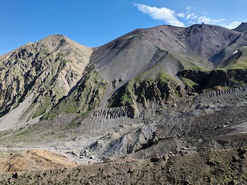 Looking back north at Koltsevoy Pass