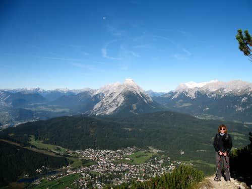 Reither spitze round trip: Seefeld and Hohe Munde.