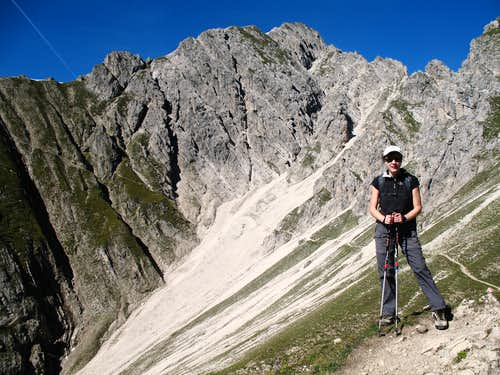 Reither spitze round trip: Looking back towards the Reither spitze