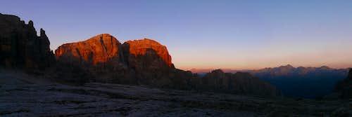 Sunrise in Brenta Group