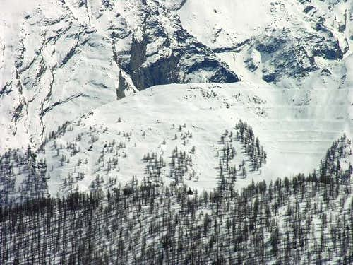 West side of Monte Paillasse <i>2414m</i>, seen during the climb of Torre Tonda