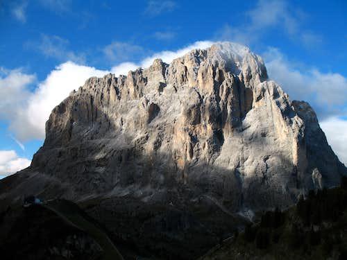 Sassolungo from Passo Gardena