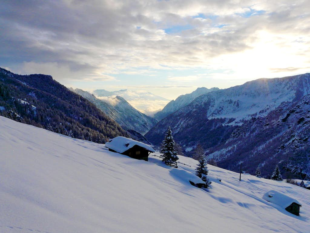 View of Champorcher Valley