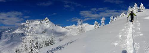 Ski touring in Champorcher Valley